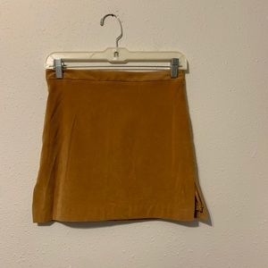 BCBG MAX AZRIA Mustard Brown Short Skirt Size 2